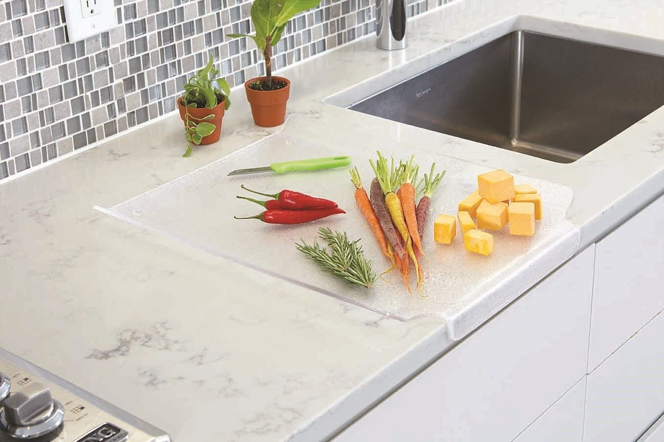 Better Houseware Multi Purpose Drain Board and Cutting Board - Frosted