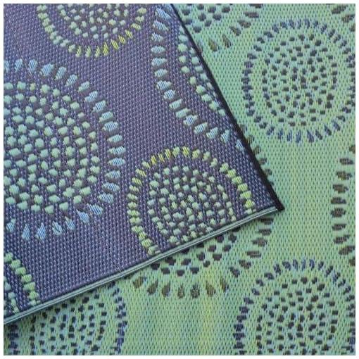 Garden and Outdoor Mad Mats Molly Doormats, 6 by 9-Inch, Black Aqua outdoor rugs