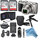 Nikon Coolpix A900 Digital Camera (Black) + Total of 48 GB SDHC + Table Tripod + AC/DC Charger + Spare Battery + Case + Wrist Strap along with Exclusive DigitalAndMore Free Deluxe Accessory Bundle Kit