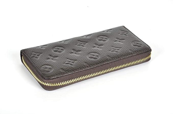 Amazon.com: Billetera de cuero con bloqueo RFID para mujer ...