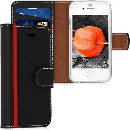 kwmobile Coque Apple iPhone 4 / 4S portefeuille - Étui à rabat ...