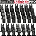 42pcs Pro Grade Universal Blade for Fein Dremel,bosch Oscillating Multi Tool Features Bi-metal Wood Japan Tooth Fits