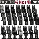 42pcs Pro Grade Universal Blade for Fein Dremel,bosch Oscillating Multi Tool Features Bi-metal Wood Japan Tooth Fits