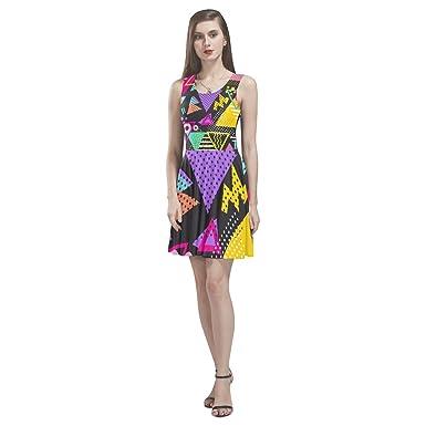 a885f863f52270 your-fantasia Custom New Thea Sleeveless Skater Dress Retro 80s ...