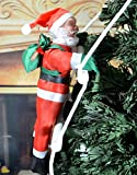 Christmas Climbing Santa,Fashionclubs Santa Claus Climbing On Rope Ladder Christmas Tree Indoor/Outdoor Hanging Ornament Decoration (One Santa)