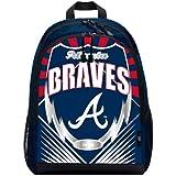 Northwest MLB Atlanta Braves Backpacklightning Backpack, Team Colors, One Size
