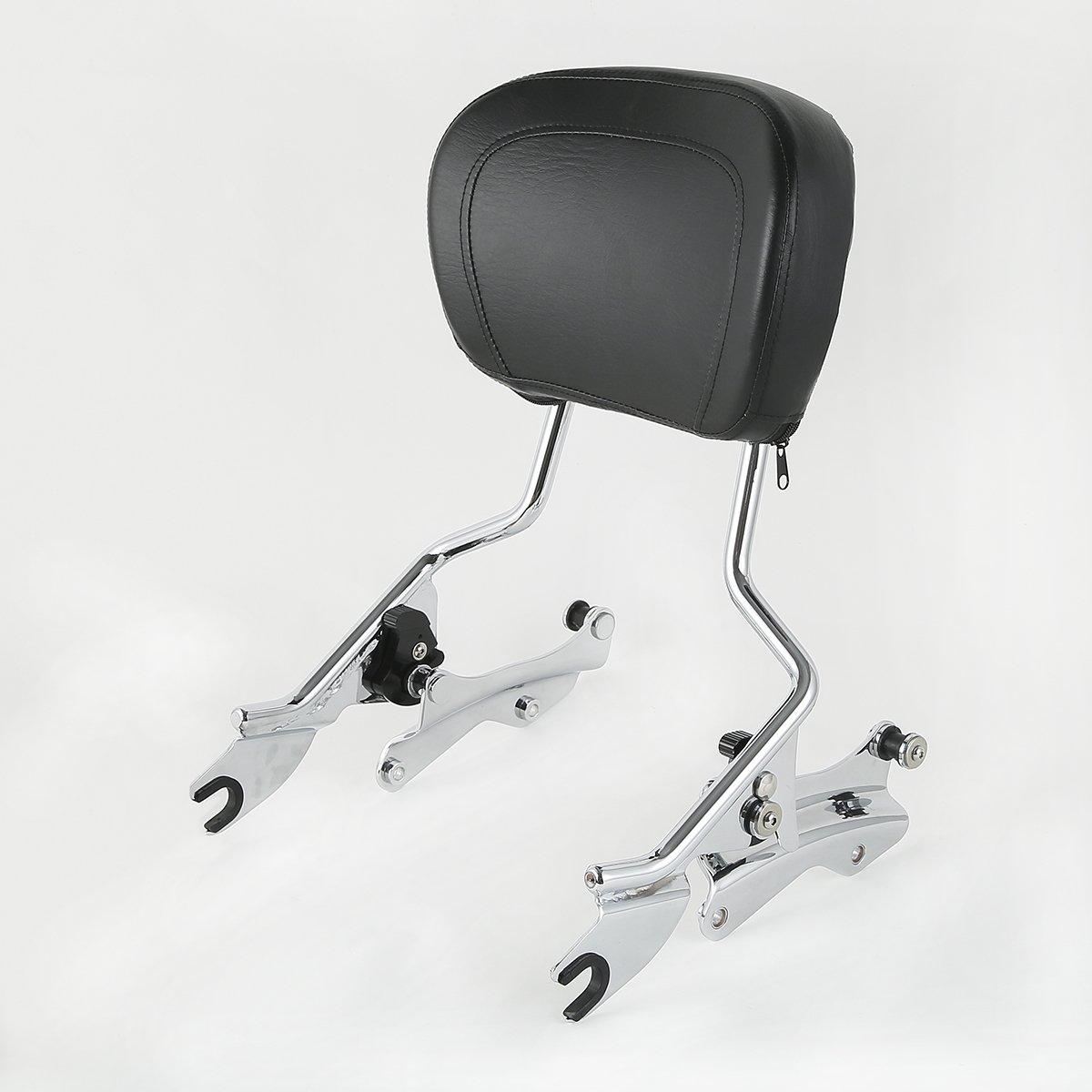 +4-Point Docking Hardware Kit Chrome H-D Detachables Sissy Bar Upright w//Black Pad Part Number 52627-09A Fits fits for Harley-Davidson Touring Models 2014-2019 Part Number 52300353