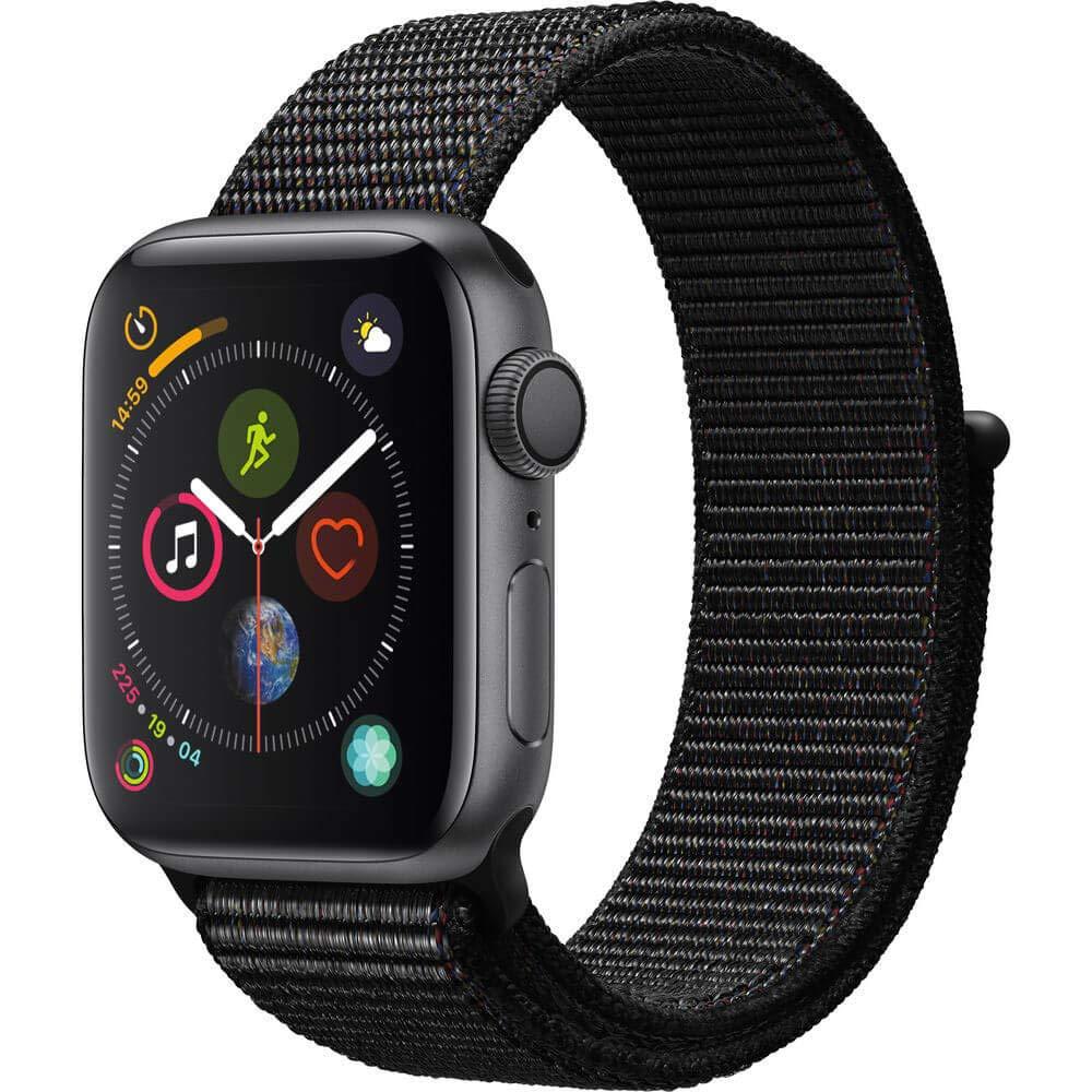 Apple Watch Series 4 (GPS, 44mm) - Space Gray Aluminium Case with Black Sport Loop