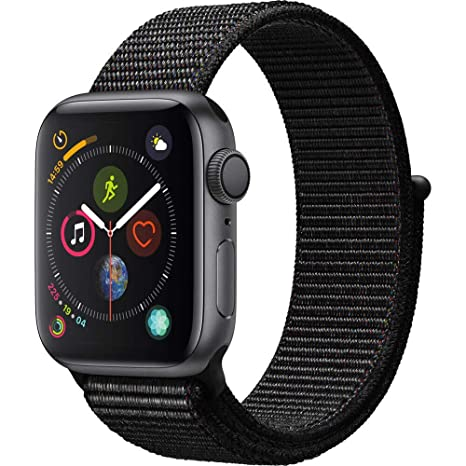 save off 5096c 729c1 Apple Watch Series 4 (GPS, 44mm) - Space Gray Aluminium Case with Black  Sport Loop
