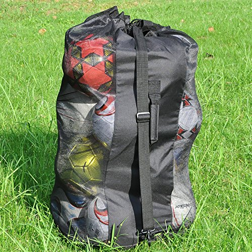 Eco Walker Ball Bag Large Capacity (Holds 16 Soccer Balls) Heavy Duty Mesh Drawstring with Adjustable Shoulder Strap and Thick Handle by Eco Walker (Image #5)
