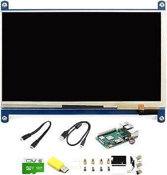 CQRobot Development Kit F of Raspberry Pi 3 Model B+, Includes: Raspberry Pi 3 Model B+, 7inch HDMI LCD (C), Bicolor Case, 16GB Micro SD Card.: Amazon.es: Electrónica