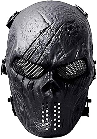 UK/_ OUTDOOR CYCLING HALF FACE PROTECTION MASK AIRSOFT COSPLAY ZOMBIE SKULL MASK