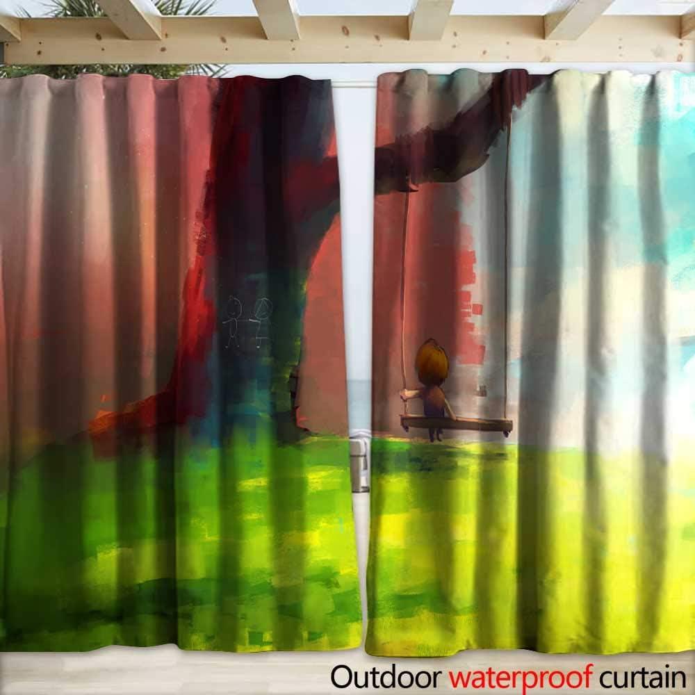 warmfamily - Cortinas de Puerta corredera Impermeables con Dibujo de corazón en la Ventana (108 x 96 cm): Amazon.es: Jardín