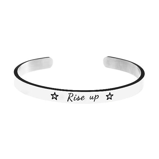 898995358d956 Jvvsci Rise up Cuff Bracelet, Musical Inspired Star Gift, Inspiration  Motivation Jewelry,Theater Gift
