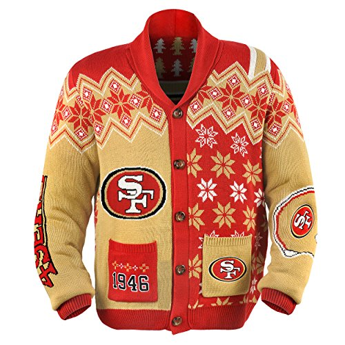 49Ers NFL Ugly Cardigan Sweater