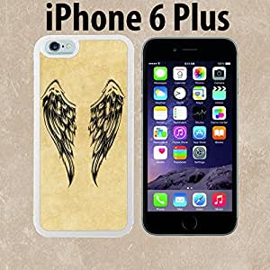 Cool Vintage Angel Wings Custom made Case/Cover/skin FOR iPhone 6 Plus - White - Rubber Case ( Ship From CA) by runtopwell