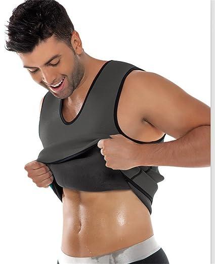 Faja Reductora Hombre Camiseta Reductora Compresion de Sauna Deportivo: Amazon.es: Deportes y aire libre