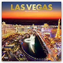 Las Vegas 2019 12 x 12 Inch Monthly Square Wall Calendar with Foil Stamped Cover, USA United States of America Nevada Rocky Mountain City