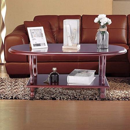 Amazon.com: HAOFAY Mesa de café ovalada clásica con diseño ...