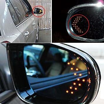 PolarLander 2 Piezas 14 SMD LED Panel de flecha para el coche Espejo retrovisor Indicador Luz de se/ñal de giro