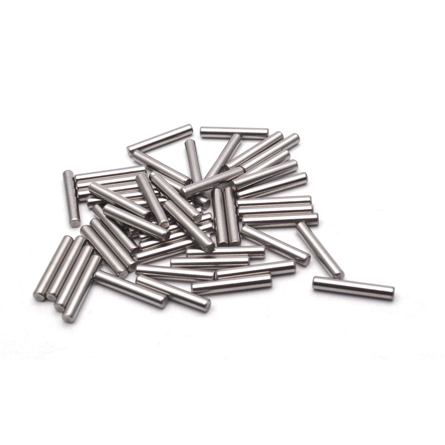 Antrader 50PCS GB119 304 Stainless Steel Cylindrical Pin Locating Pin Dowel Pins 5 x 25m