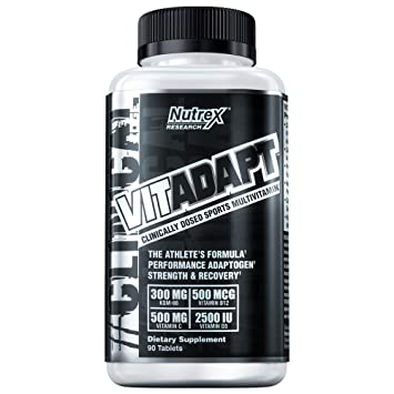 Nutrex Research Vitadapt, Clinically Dosed Sport Multivitamin, Chelated  Minerals, KSM-66