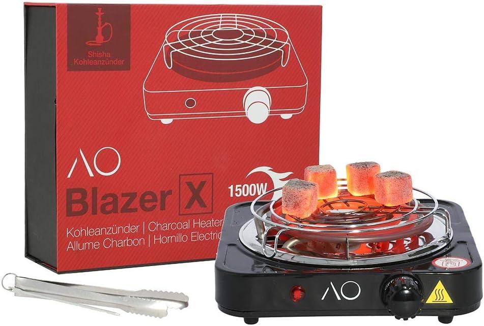 AO Blazer X Encendedor eléctrico per Carbón Cachimba Narguile Shisha 1500W