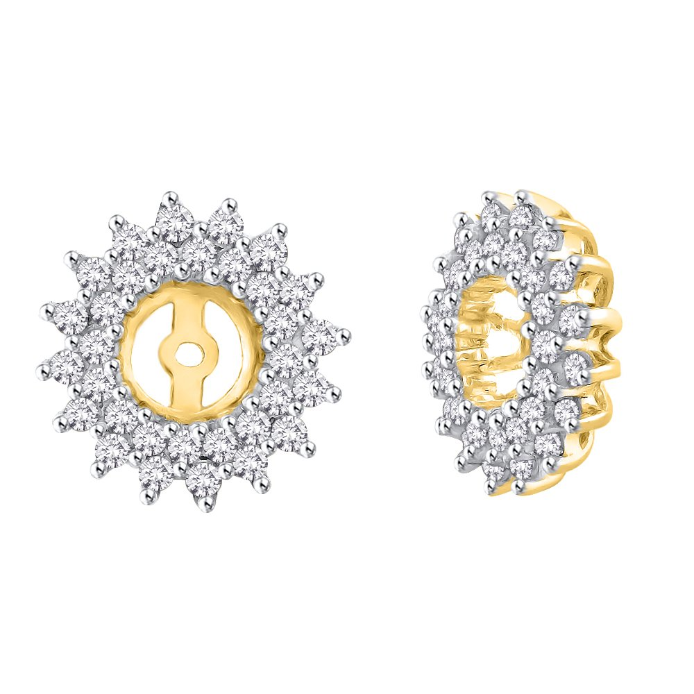 Diamond Earring Jackets in 14K Yellow Gold (1/2 cttw) (Color GH, Clarity I2-I3)