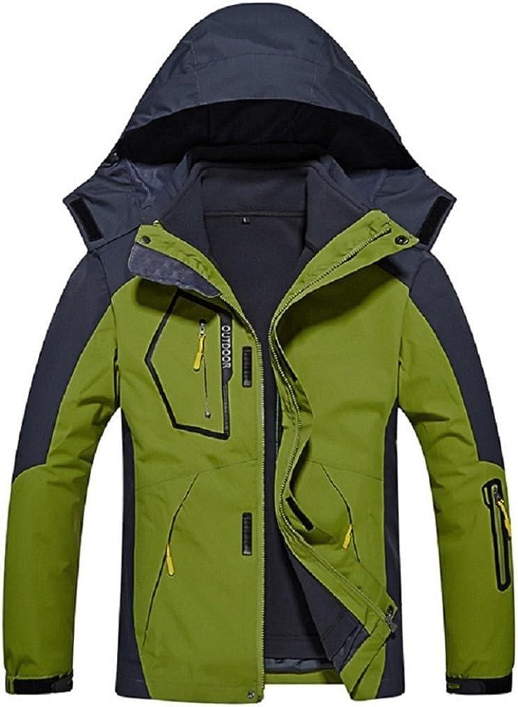 Ausom Unisex Three-in-one Detachable Warm Polar Fleece Mountaineering Jacket