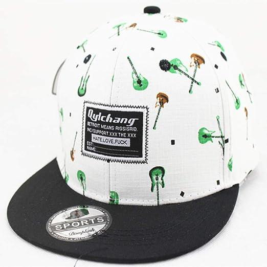 zhuzhuwen Sombrero Adulto Gorra Coreana de Color Marea Impresa ...