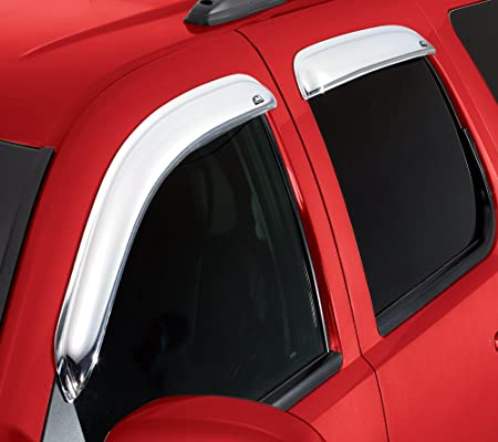 2007-2014 Silverado /& Sierra 2500HD-3500HD with Extended Cab 4-Piece Set for 2007-2013 Silverado /& Sierra 1500 Auto Ventshade 684040 Chrome Ventvisor Side Window Deflector