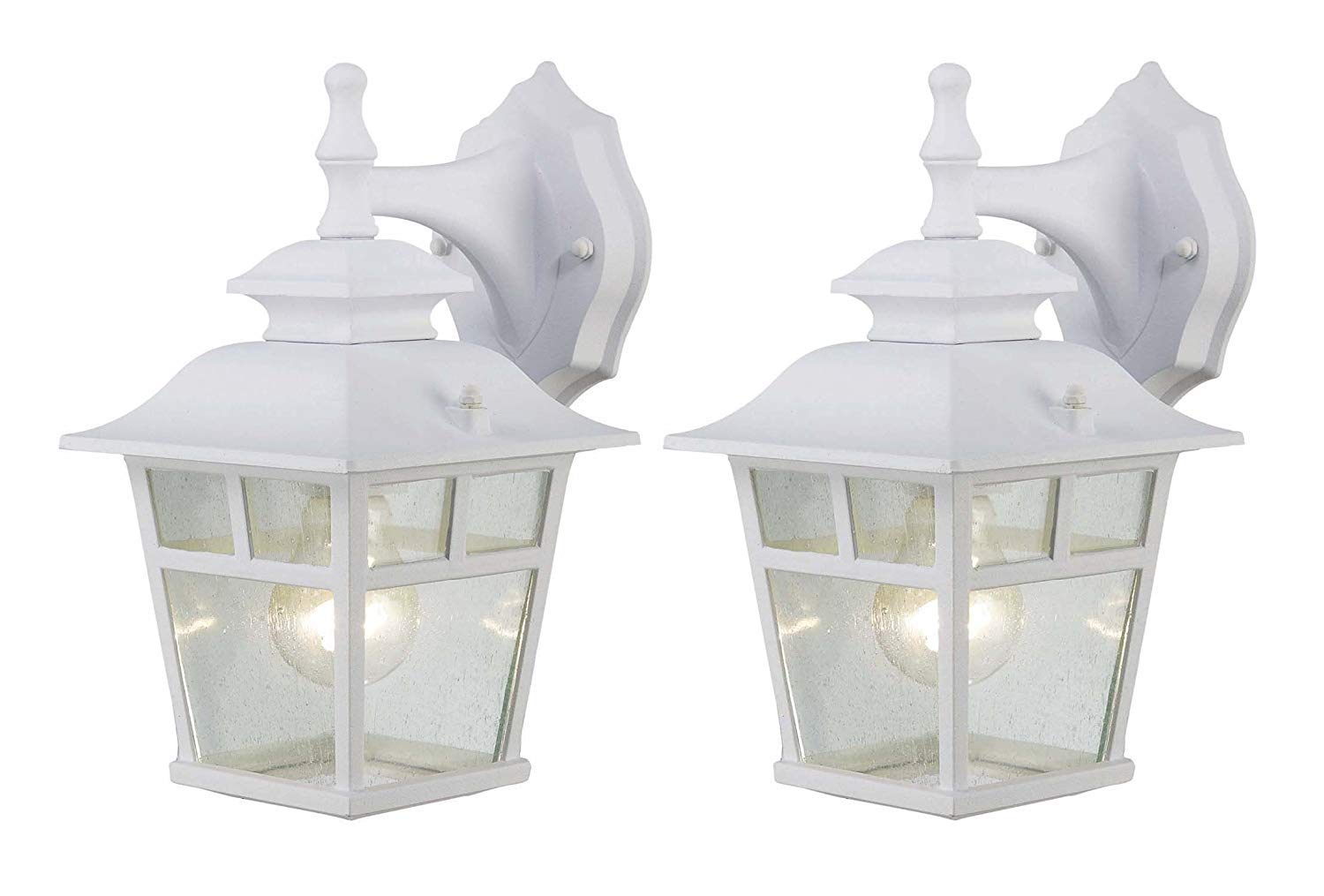 Fieldhouse Outdoor Lantern Twin Pack (White Wall Lantern Twin Pack)
