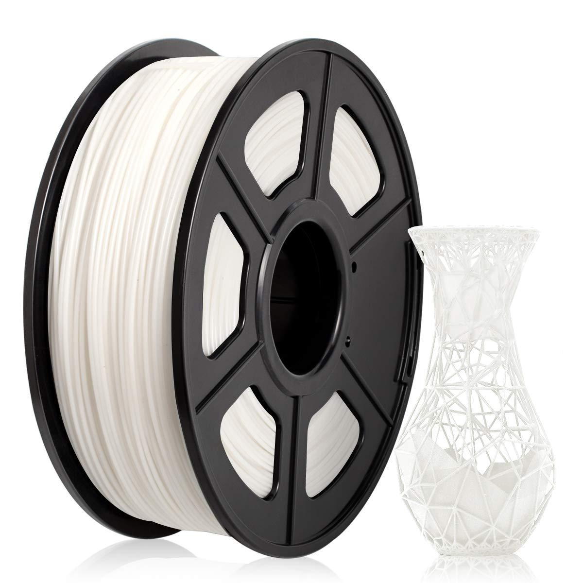 ABS Filament 1.75mm, ABS 3D Printer Filament for 3D Printer 3D Pen, ABS Filament 1KG (2.2 lb) ABS White
