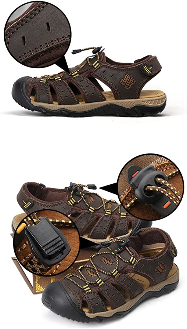 Mens Sports Sandals Trail Outdoor Water Shoes Closed-Toe Sandal Waterproof Quick Dry