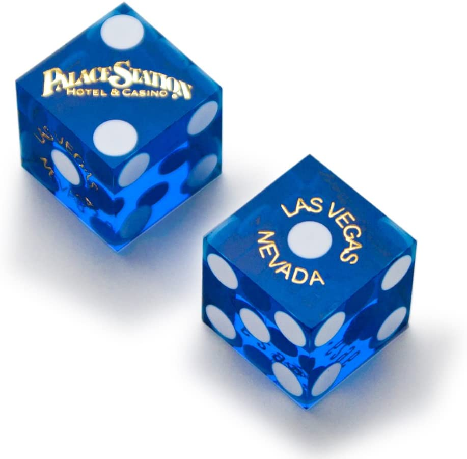 of Official 19mm Casino Dice Used at the Palace Station Casino by Brybelly Pair 2