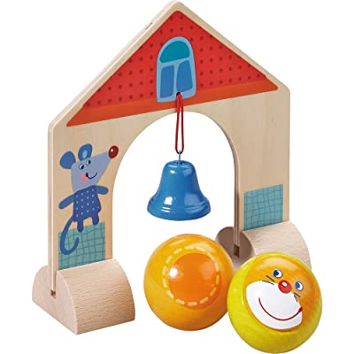 HABA Kullerbu Accessory Set - Arch with Bell - Includes 2 Wooden Kullerbu Balls: Toys & Games