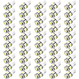 Changeshopping 50x T10 5050 5SMD 194 168 LED White Car Side Wedge Tail Light Lamp