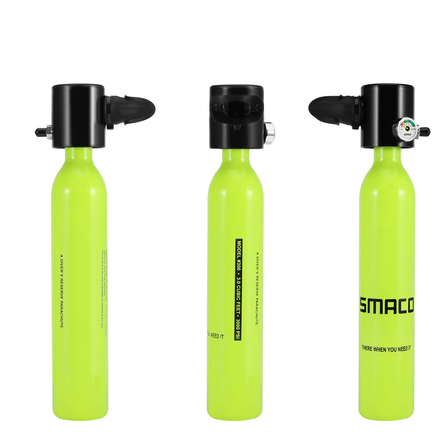 Surfing & Diving Flight Tracker Smaco Two Oxygen Cylinder Sets Mini Scuba Diving Equipment Tank Total Freedom Breath Underwater For 5 To 10 Minutes