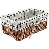 HD Wicker Storage Basket, Rectangular Storage Basket,Natural and Decorative, Arts and Crafts. (Natural)