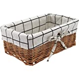 HD Wicker Storage Basket, Rectangular Storage Basket,Natural and Decorative, Arts and Crafts. (Natural)