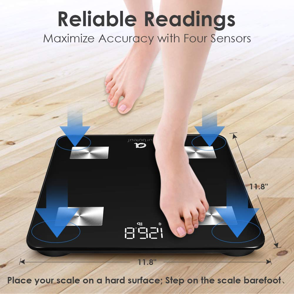 Arboleaf Weight Scale  Smart Scale Bluetooth Body Fat Scale Wireless with iOS Android APP Unlimited