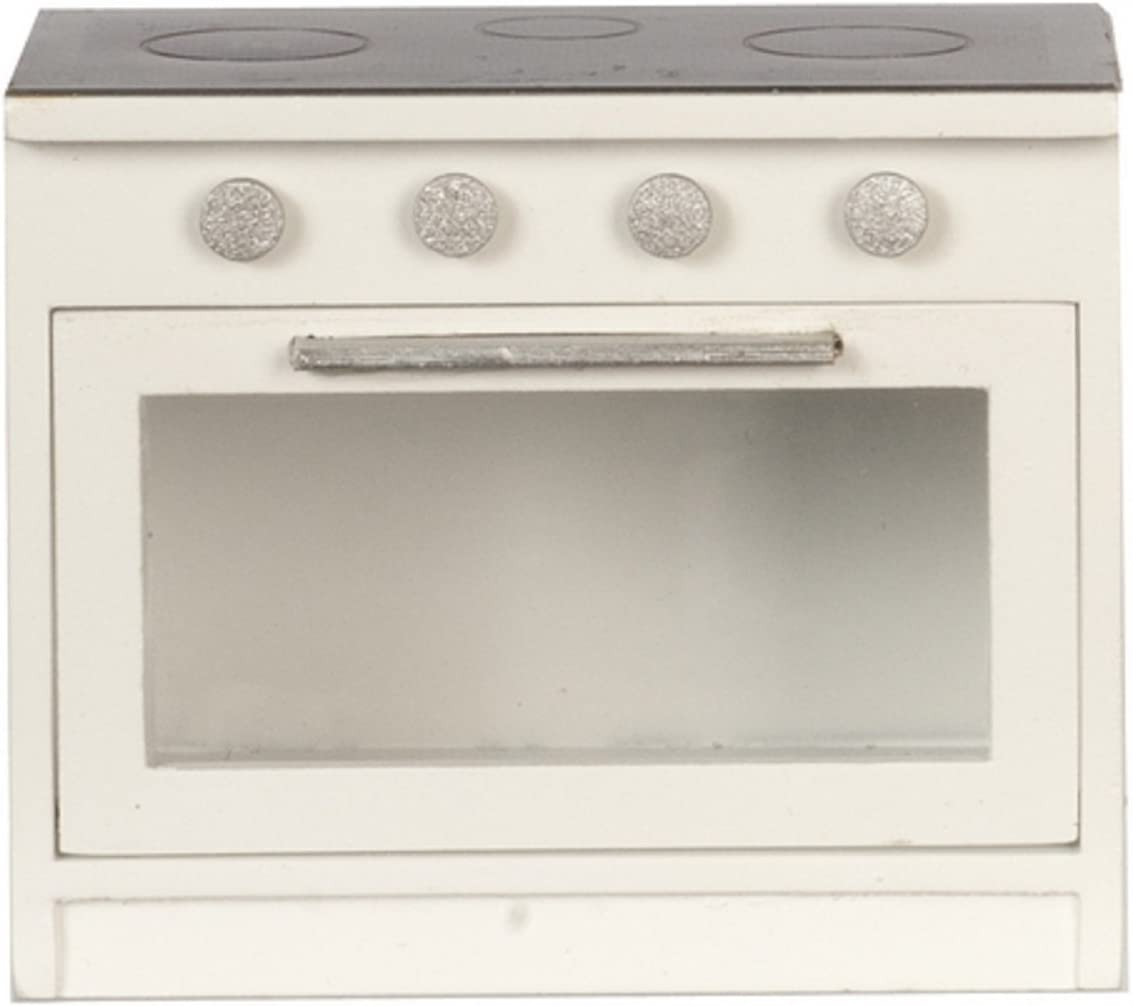 Melody Jane Dollhouse Black & White Cooker Stove Modern Miniature Kitchen Furniture