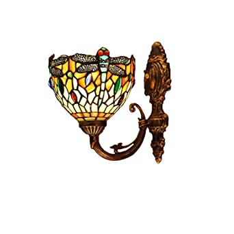 Tiffany Style Lampes Murales Applique Design MuraleRouge Dragonfly wXn08PkNO