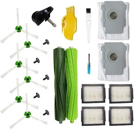 BSDY YQWRFEWYT Repuestos para aspiradora iRobot Roomba i7 i7Plus e5 e6 e7 Reposición (4 filtros, 6 cepillos Laterales, 1 Juego de cepillos de Goma) (Set 4): Amazon.es: Hogar
