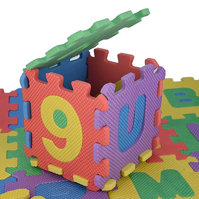 Sacow Kids Alphabet Puzzle Toys 36Pcs Baby Child Number Puzzle Foam Maths Educational Toy Gift