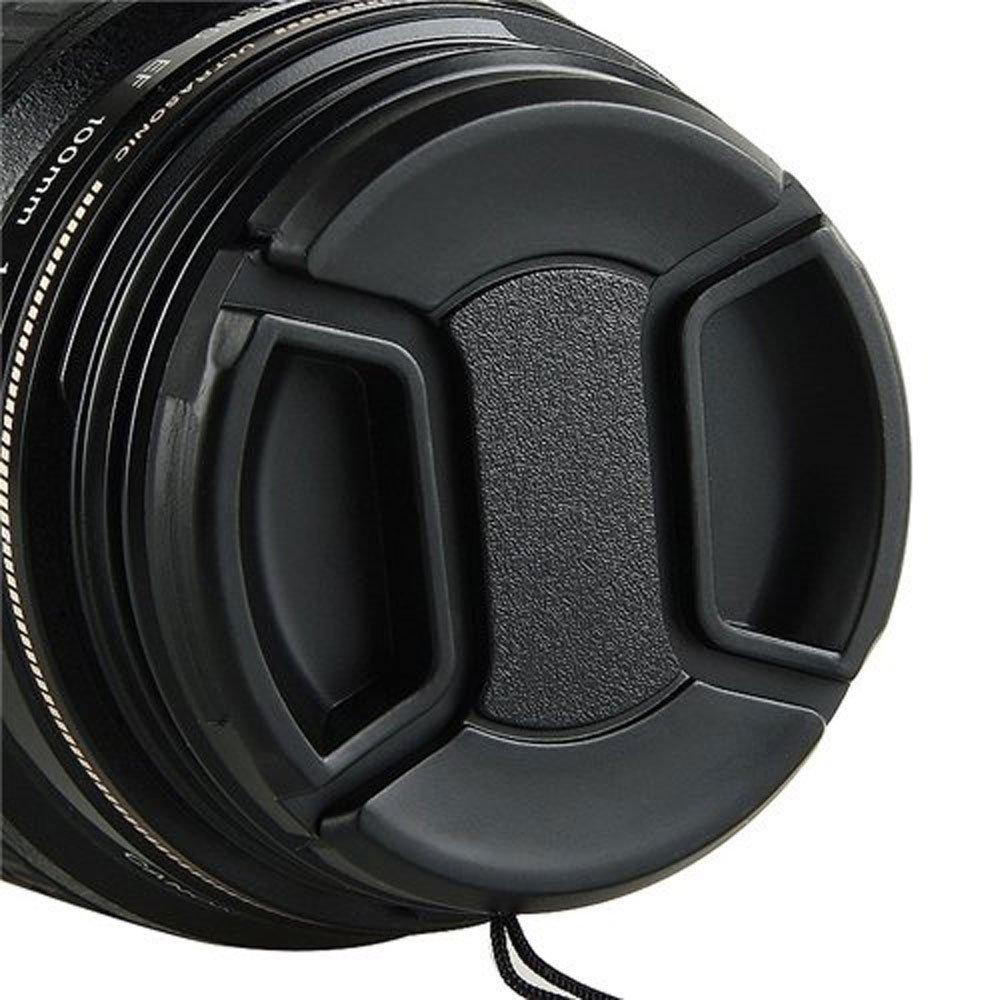 Pentax Sony Panasonic Nikon Yunchenghe 3 Piezas 55mm Tapa del Objetivo C/ámaras Samsung Canon Ajustar el videoclip con Cadena para Videoc/ámaras Leica etc. Olympus