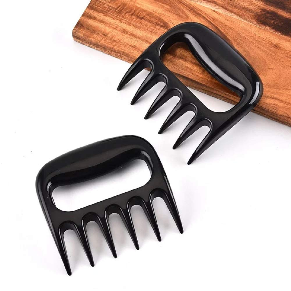 LOMONI Barbecue Claws BBQ Meat Chopper Kitchen Steak Chicken Lamb Pork Processing Beef, 2 Pieces (4.5in4.5in, Black)