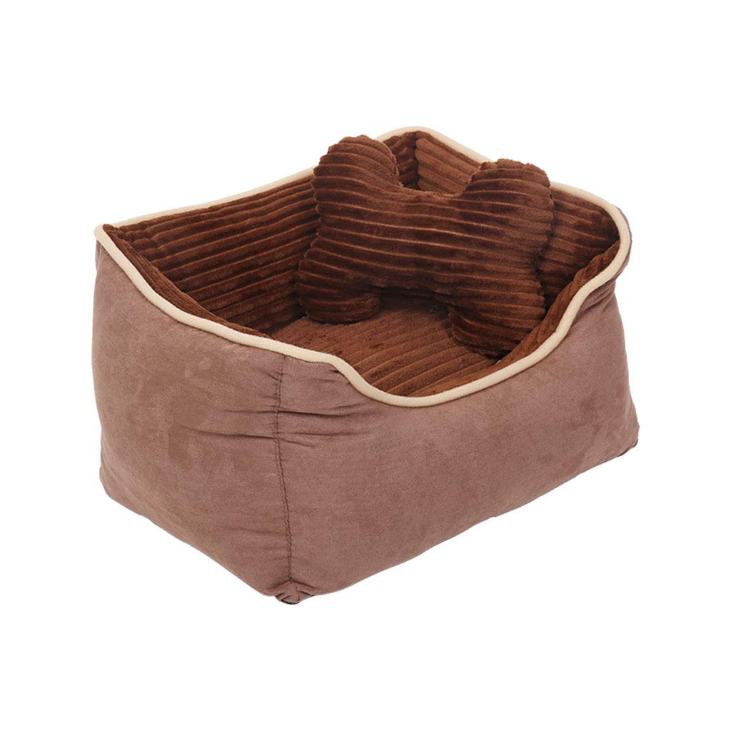 Large WJQSD Dog Cat Pet Bed Kennel Cat Litter Winter Dog Bed Large Medium And Small Dog Pet Nest Washable Winter Mat Indoor, outdoor,Daily Use,Travel (Size   L)