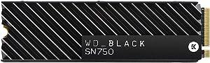 WD_Black SN750 500GB NVMe Internal Gaming SSD with Heatsink - Gen3 PCIe, M.2 2280, 3D NAND - WDS500G3XHC