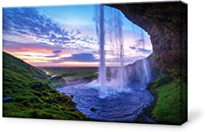 SIGNFORD Canvas Wall Art for Living Room,Bedroom Home Artwork Paintings Waterfall Landscape Ready to Hang - 16x24 inches